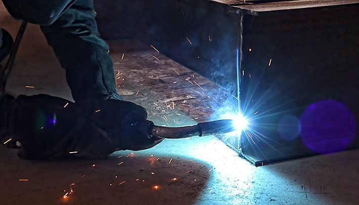 photo of welding at Frontier Steel Products